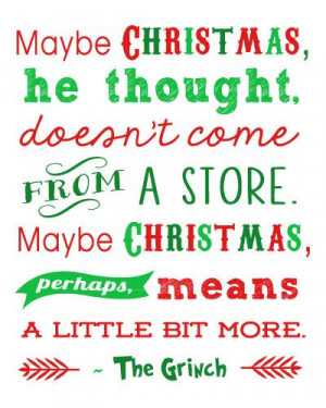 Free Christmas Printables: Grinch Quote + 15 more! - Happiness is ...