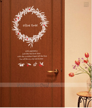 Olive Tree Flower Wall Stickers