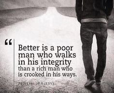 ... rather be poor than have to interact with their insincerity. More