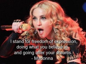 Madonna, best, quotes, sayings, inspiring, freedom, cute