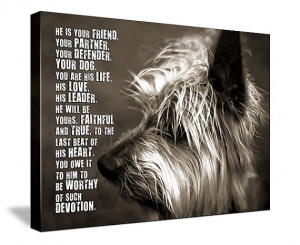 Dog PET Lover MANS best friend Loss of Pet Portrait Art words photo ...