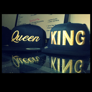 King and queen snapbacks