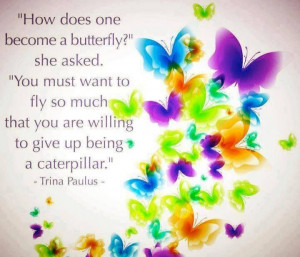 How to become a butterfly