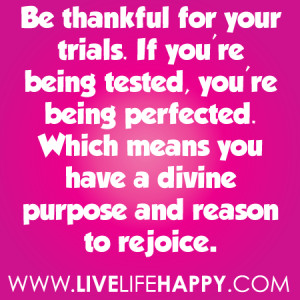 ... You're Being Perfected. Which Means You Have A Divine Purpose And