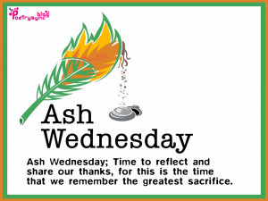 Ash Wednesday Quotes and Sayings with Wishes Images Cards
