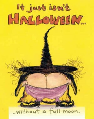 Witch giving a funny full moon, click to enlarge this scary funy witch ...