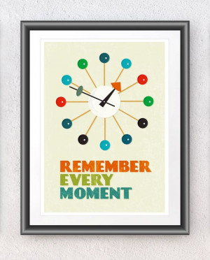 George #Nelson Ball #Clock Art retro #poster by ReStyleGraphic