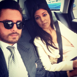 Like Kourtney Kardashian and the father of her children Scott Disick ...