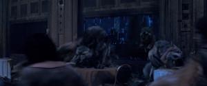 Werewolves attack the vampires at Hotel Dumort