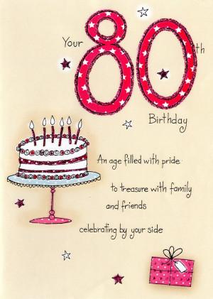80th Birthday - 'Birthday Cake'