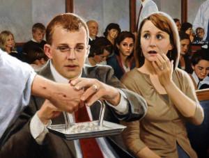 Sacrament Meeting - Many Sizes - by Doc Christensen - Family Art