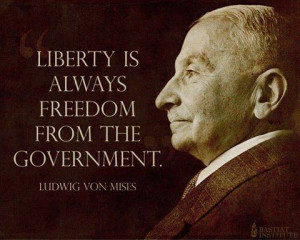 Liberty is always freedom from government