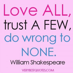 William shakespeare quotes on love and death