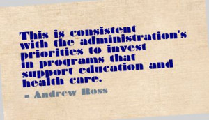 ... in Programs that support education and health care ~ Education Quote