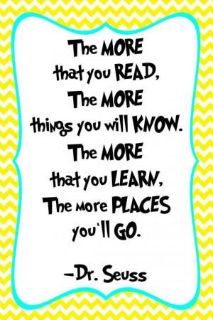 Dr. Seuss Quote Print - Classroom poster or nursery print - digital ...