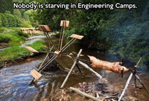 When engineers go camping…