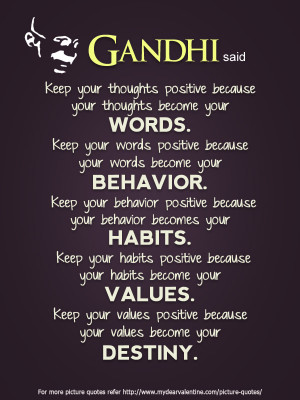 Inspirational Quotes - Gandhi said