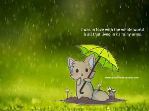 Happy Quotes About Rainy Days