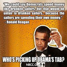 Obama, Ronald Reagan quote More