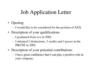 Job Application Letter Quotes
