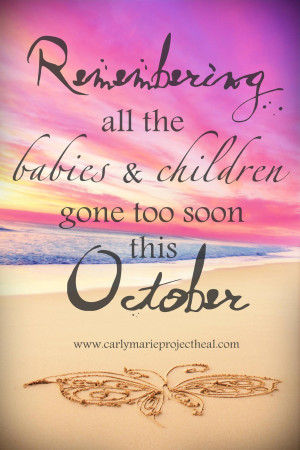 Christian's Beach Baby Loss awareness month