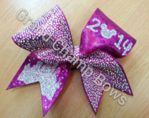 ... Castle Cheer Cheerleader Princess Hair Bow for WORLDS or SUMMIT