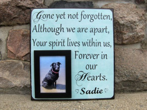... Pet Picture Frame, Gone Yet Not Forgotten, Dog lover, Pet Gift, In