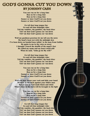 Johnny Cash Lyrics by bravofox16