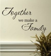 ... wall decor, family quotes, wall stencil, decals, wall quotes, family