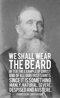 """BEARDED GOSPEL MEN. """"We shall wear the beard after the example of ..."""