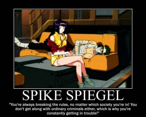 ... cowboy bebop character faye valentine spike spiegel quote firefly