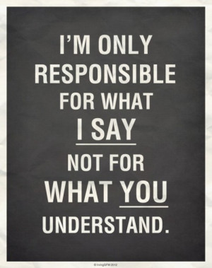 Only Responsible For What I Say