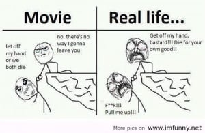 Movie vs Real life / Funny Pictures, Funny Quotes – Photos, Quotes ...