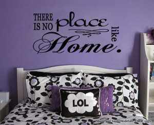 ... is no place like home' Dorothy Quote Wizard of Oz Vinyl Wall Decal