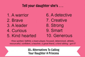... to calling your daughter a princess and kicking