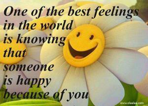 The best feelings in the world