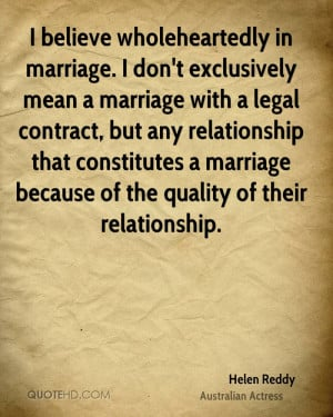 Helen Reddy Marriage Quotes