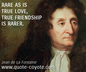 True quotes Rare as is true love true friendship is rarer