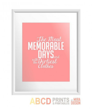 Laundry quote print The most memorable days end with by MiraDoson, $11 ...