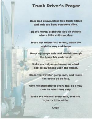 Truck Driver's Prayer Trucks Yeah, Trucks Driver Quotes, Truck Drivers ...