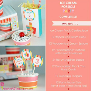 Cream-Popsicle-Party-Complete-Party-Set-with-cardboard-ice-cream-truck ...