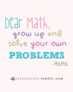 School quotes, meaningful, sayings, best, math