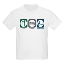 Eat Sleep Gymnastics Kids Light T-Shirt for