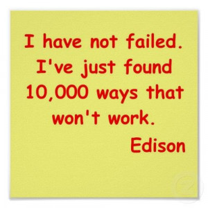 Thomas Edison quote Posters