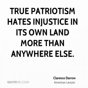 Clarence Darrow Patriotism Quotes