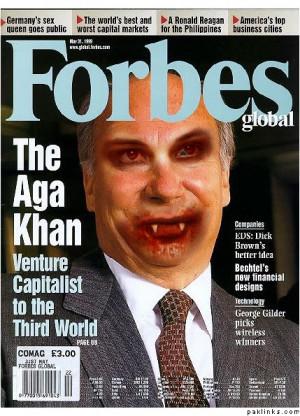 agha khan on front page of magzine agha khan with