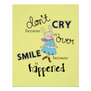 Kawaii Adorable Bunny Cartoon Inspirational Quote Posters