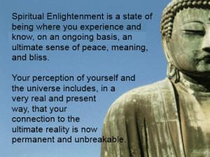 Spiritual Enlightenment.