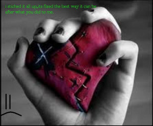 broken emo heart