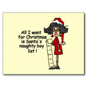 Santa's Naughty Boy List Postcards
